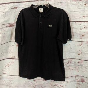 Lacoste Black Polo Shirt Size XL